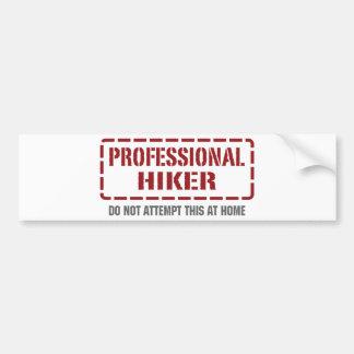 Professional Hiker Car Bumper Sticker