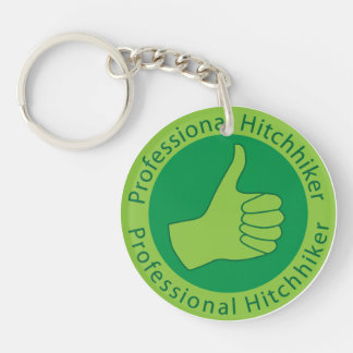 Professional hitchhiker Double-Sided round acrylic keychain