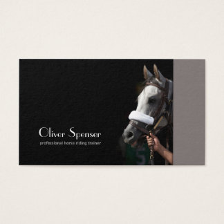 Professional Horseback Riding Trainer Card