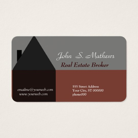 Professional House Architecture Real Estate Agent  Business Card