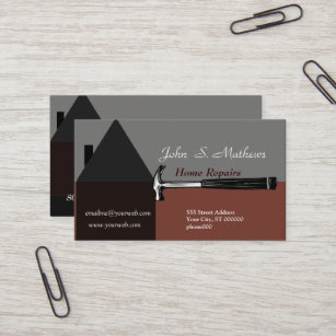 House business cards templates zazzle professional house construction handyman tool business card colourmoves
