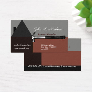 Professional House Construction Handyman Tool Business Card