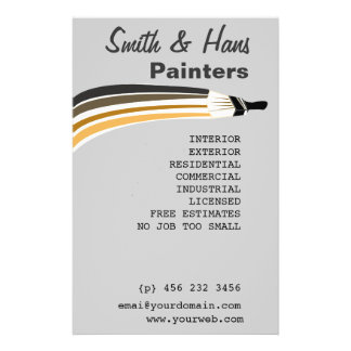 Professional House Painter Edit Hitting Customize Flyer