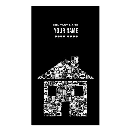 Professional House Real Estate Photo Business Card