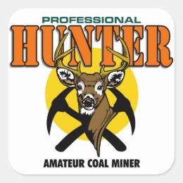 PROFESSIONAL HUNTER SQUARE STICKER