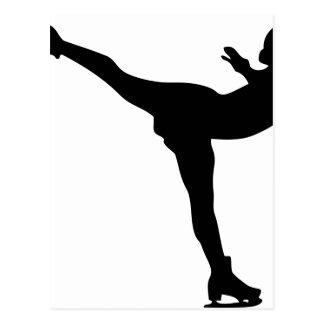 Professional Ice Skating Woman Postcard