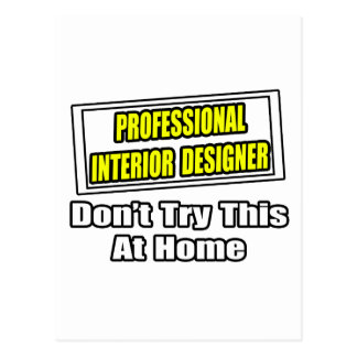 Professional Interior DesignerJoke Postcard
