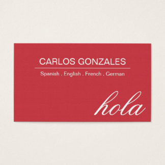 Professional Interpreter Translator Business Card