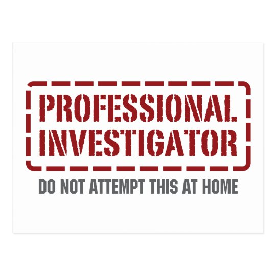 Professional Investigator Postcard