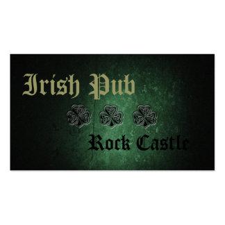 Professional Irish Pub lucky shamrock Business Card Template