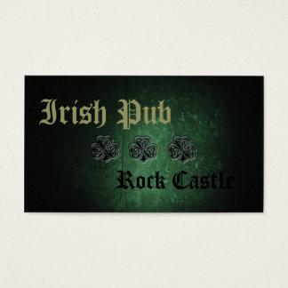 Professional Irish Pub lucky shamrock Business Card