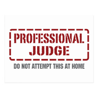 Professional Judge Postcard