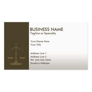 professional justice business card
