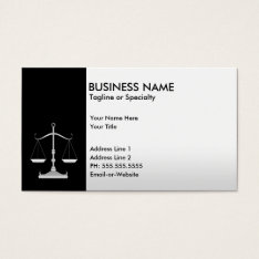 Professional Justice Business Card at Zazzle