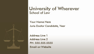 Law student business cards templates zazzle professional justice law student business card colourmoves
