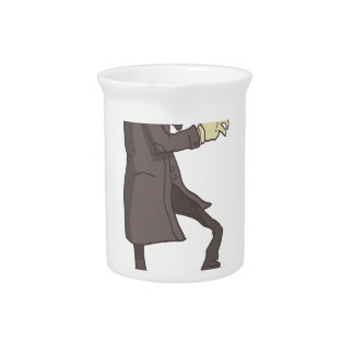 Professional Killer Dangerous Criminal Outlined Beverage Pitcher
