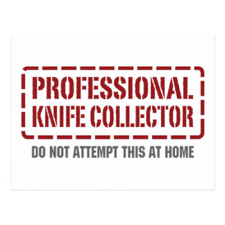 Professional Knife Collector Postcard
