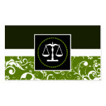 professional law : damask justice scales business card template
