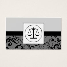 Professional Law : Damask Justice Scales Business Card at Zazzle