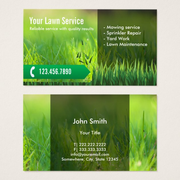 Lawn Care Business Card Templates Simple Lawn Mowing With Lawn - Lawn care business cards templates free