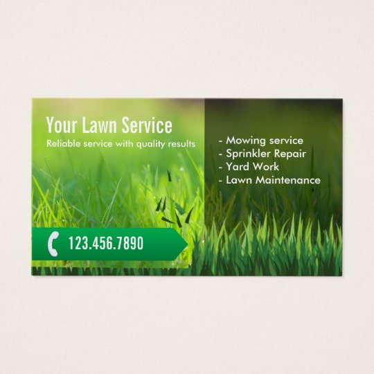 Professional lawn care landscaping business card for Landscaping business