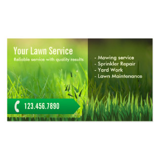 Professional Lawn Care & Landscaping Double-Sided Standard Business Cards (Pack Of 100)