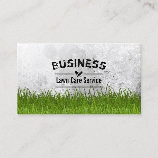 professional lawn care landscaping service business card - Lawn Service Business Cards