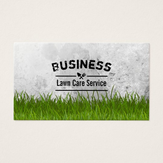 Professional Lawn Care Amp Landscaping Service Business Card