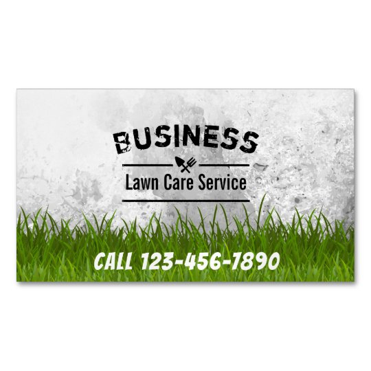 professional lawn care landscaping service business card magnet - Lawn Service Business Cards