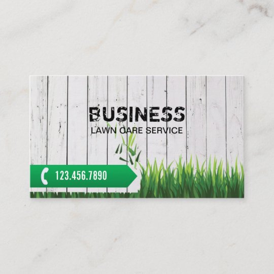 professional lawn care service business card - Lawn Service Business Cards