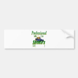 Professional lawn care services bumper sticker