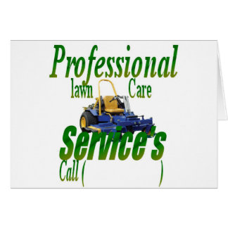 Professional lawn care services cards