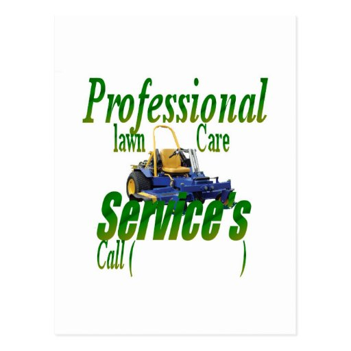 Professional lawn care services postcard zazzle for Professional landscaping service