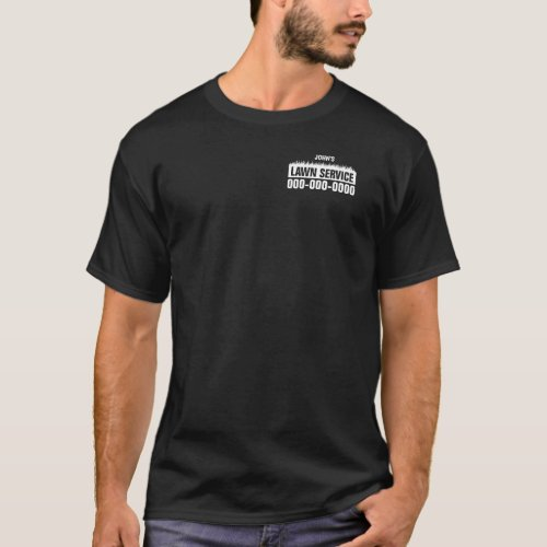 Professional Lawn Service Dark Colored T_Shirt