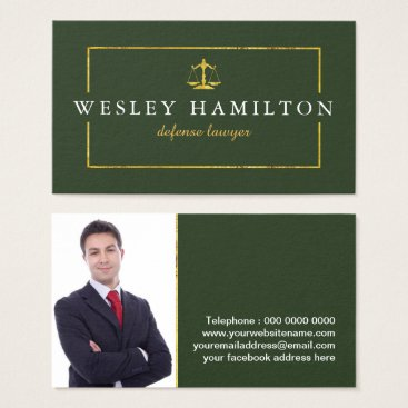 Lawyer Themed Professional Lawyer Business Card Template