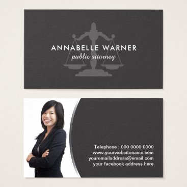 Professional Business Professional Lawyer Business Card Template