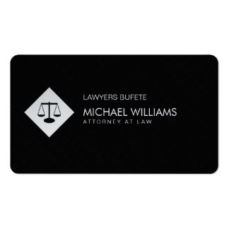 PROFESSIONAL LAWYER ELEGANT METAL SILVER BUSINESS CARD