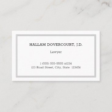 Professional Legal Professional Business Card