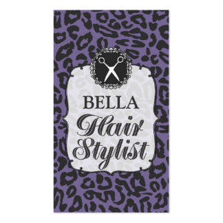 Professional Leopard Pattern Hair Salon Cards