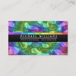 Hologram business cards templates zazzle professional liquid metal colors hologram business card colourmoves