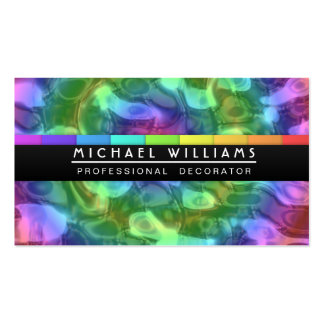 PROFESSIONAL LIQUID METAL COLORS HOLOGRAM Double-Sided STANDARD BUSINESS CARDS (Pack OF 100)
