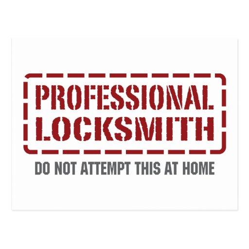 Professional Locksmith Post Cards