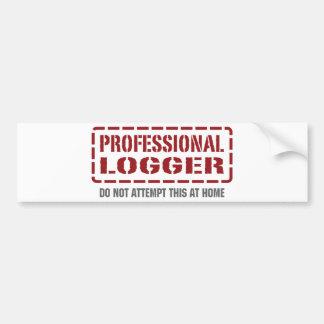 Professional Logger Car Bumper Sticker