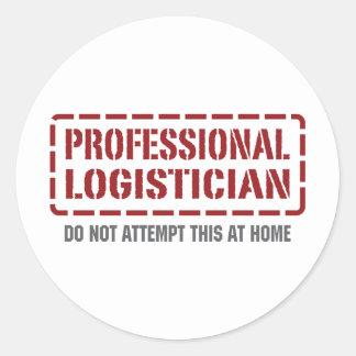 Professional Logistician Classic Round Sticker