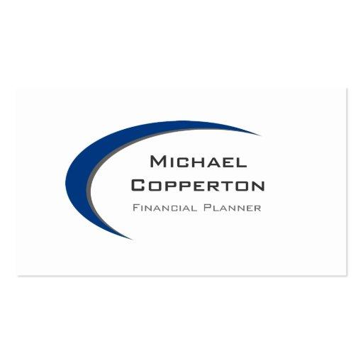 Professional Logo Business Card Blue Curve