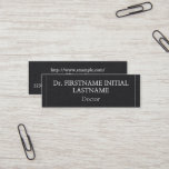 Professional & Low-Key Doctor Business Card