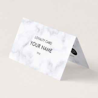 Professional Loyalty Elegant White Marble Pattern Business Card