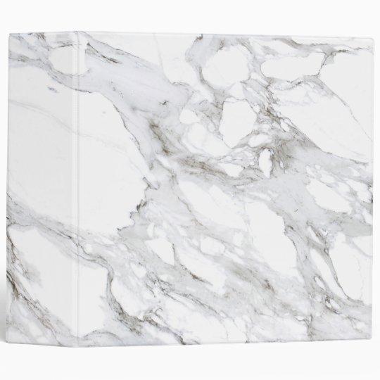 Professional Luxe Minimalist White Marble Binder