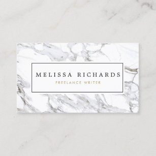 37da544b9b Professional Luxe Minimalist White Marble Business Card