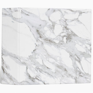 Professional Luxe White Marble Binder